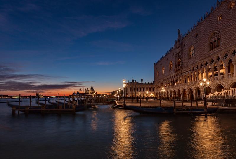 Twilight Falls on Venice Italy