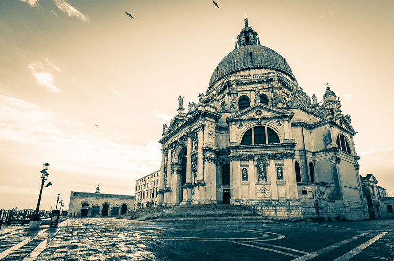 In the Courtyard of the Basilica of Santa Maria della Salute
