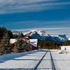 Railroad Station in Banff Canada