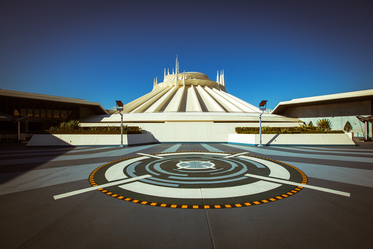 A Deserted Space Mountain