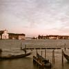 Gondolier at Sunset, Venice Italy