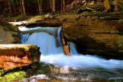 Waterfall in Upstate New York.