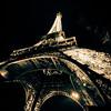 Eiffel tower, sepia.