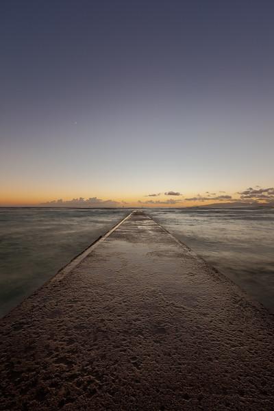 Waikiki Beach Pier Sunset