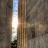 Behind the Lincoln Memorial