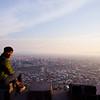 Overlooking Santiago.