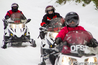 Snow mobiles in Yellowstone