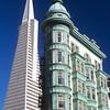 The Transamerica Pyramid and Columbus Tower<br /> San Francisco, California