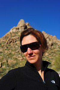 Linda at Pinnacle Peak