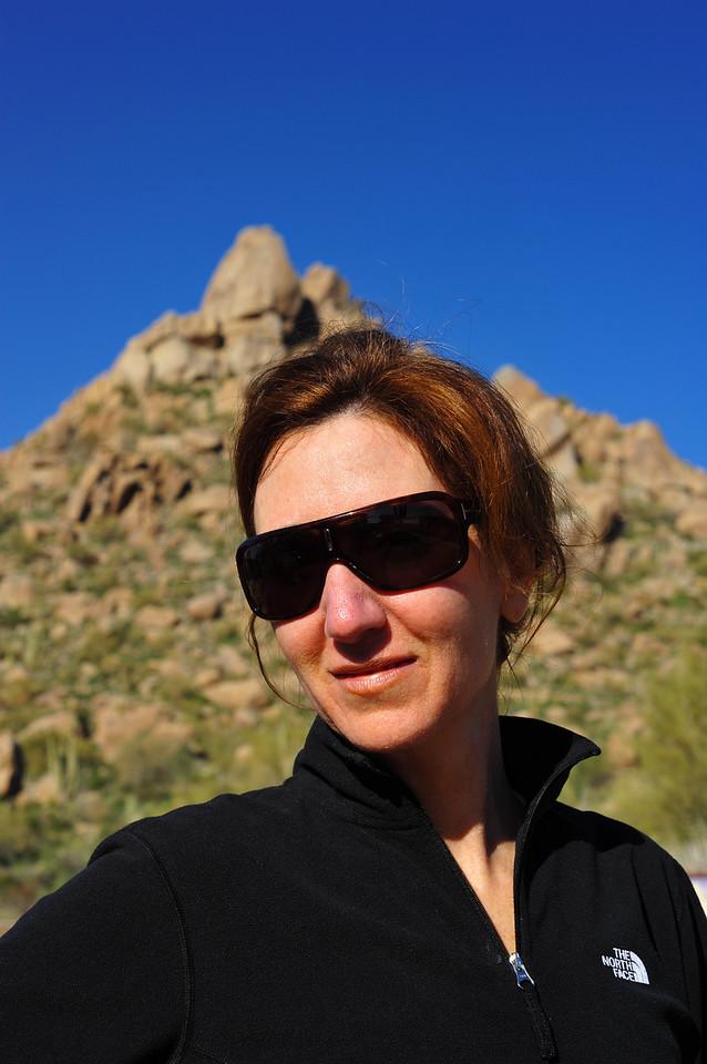 Linda at Pinnacle Peak