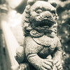 Chinese Dog Carving at Ling Yin Temple