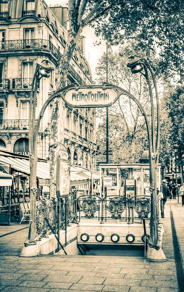 Art Nouveau Parisian Metropolitan Station
