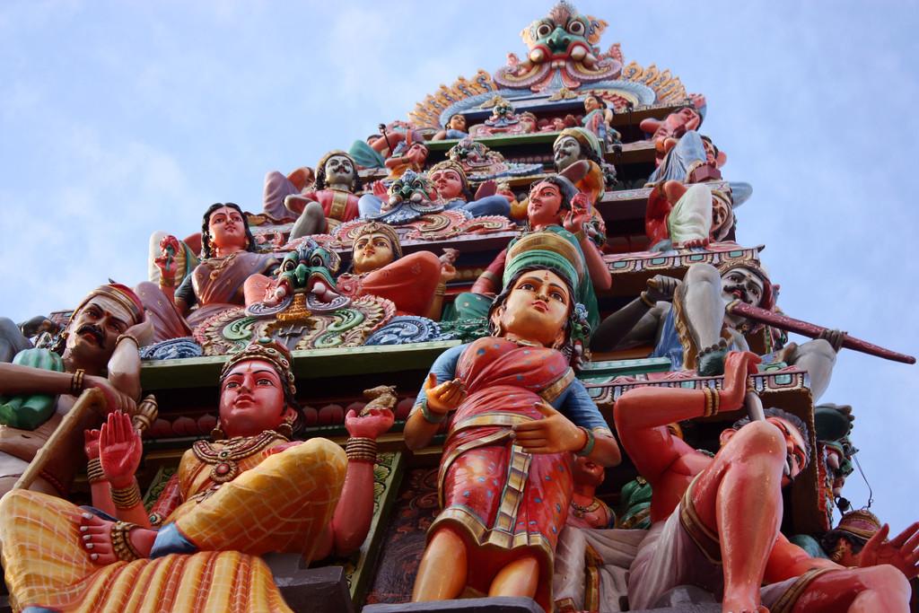 Hindu temple,Singapore.