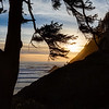 Sunset at Ecola State Park in Oregon