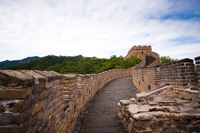 The Great Wall at Mutianyu.