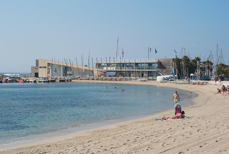 Beach, Bandol France with sailing club