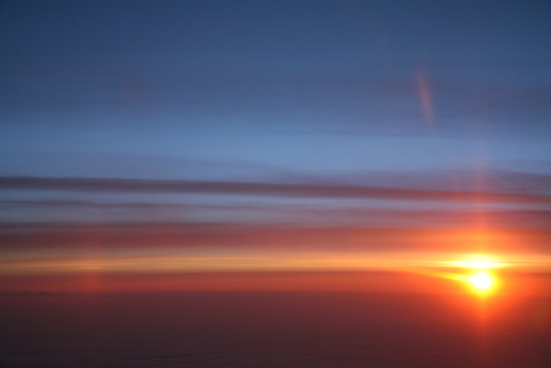 Dawn over Ireland (from a plane)