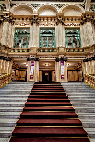 The Grand Staircase of Teatro Colon