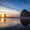 Cannon Beach Oregon Haystack Rock and The Needles
