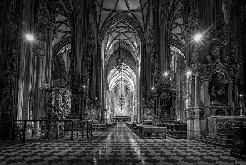 St. Stephen's Cathedral Interior in Vienna, Austria