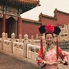 Traditional Chinese Dress in the Forbidden City, Beijing, China