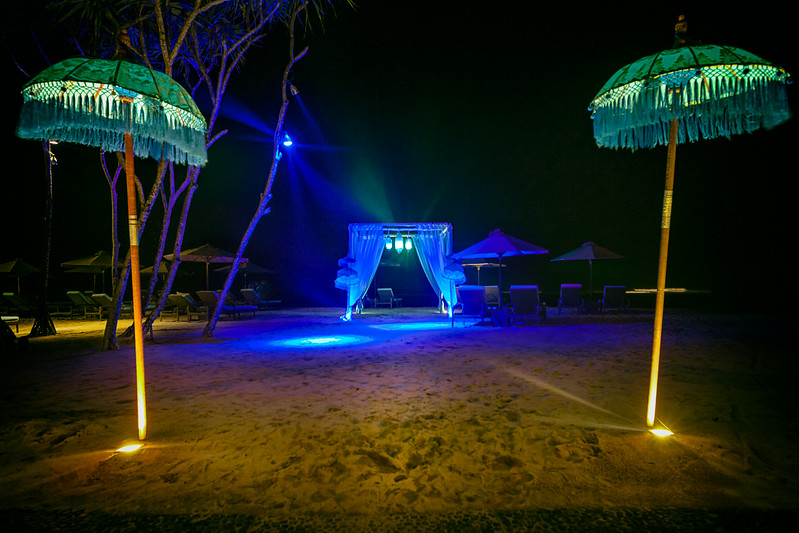Party Tent on the Beach in Bali