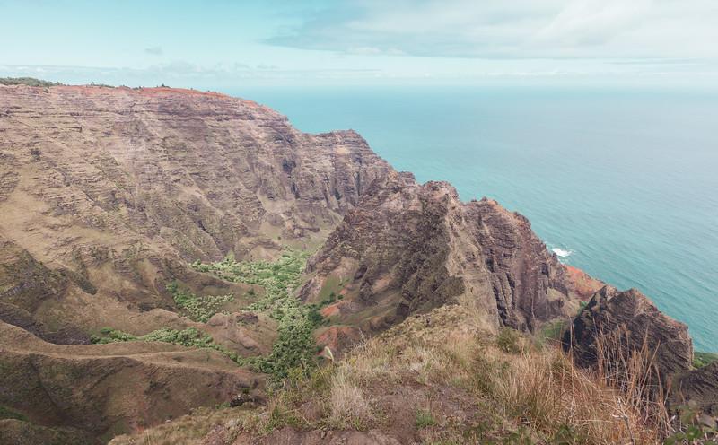 End of the Awa'awapuhi Trail, Kauai, Hawaii