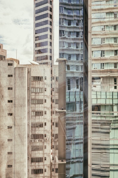 Jumbled Buildings in Hong Kong