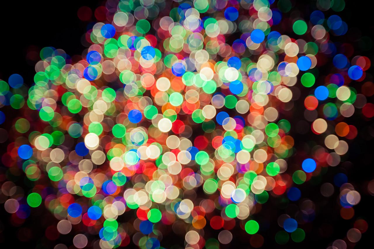 Abstract Lights at Rockefeller Center