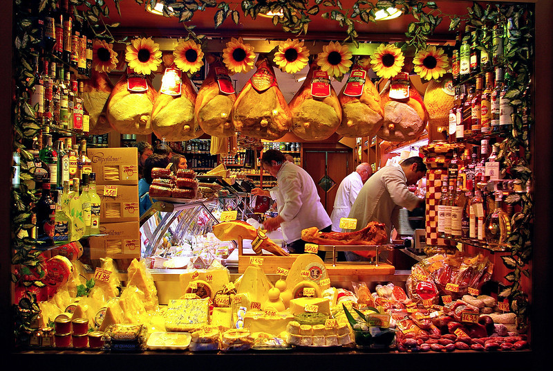 Deli  window in Campo di Fiori, Rome