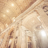 Fingers of Light Inside St Peter's Basilica in Vatican City