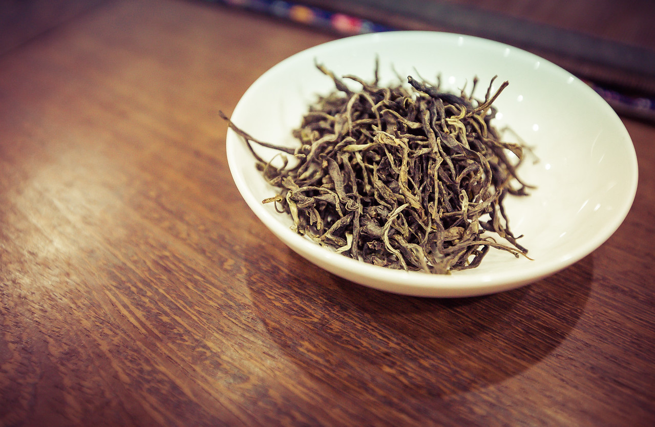Tea Leaves for Inspection in Shanghai, China