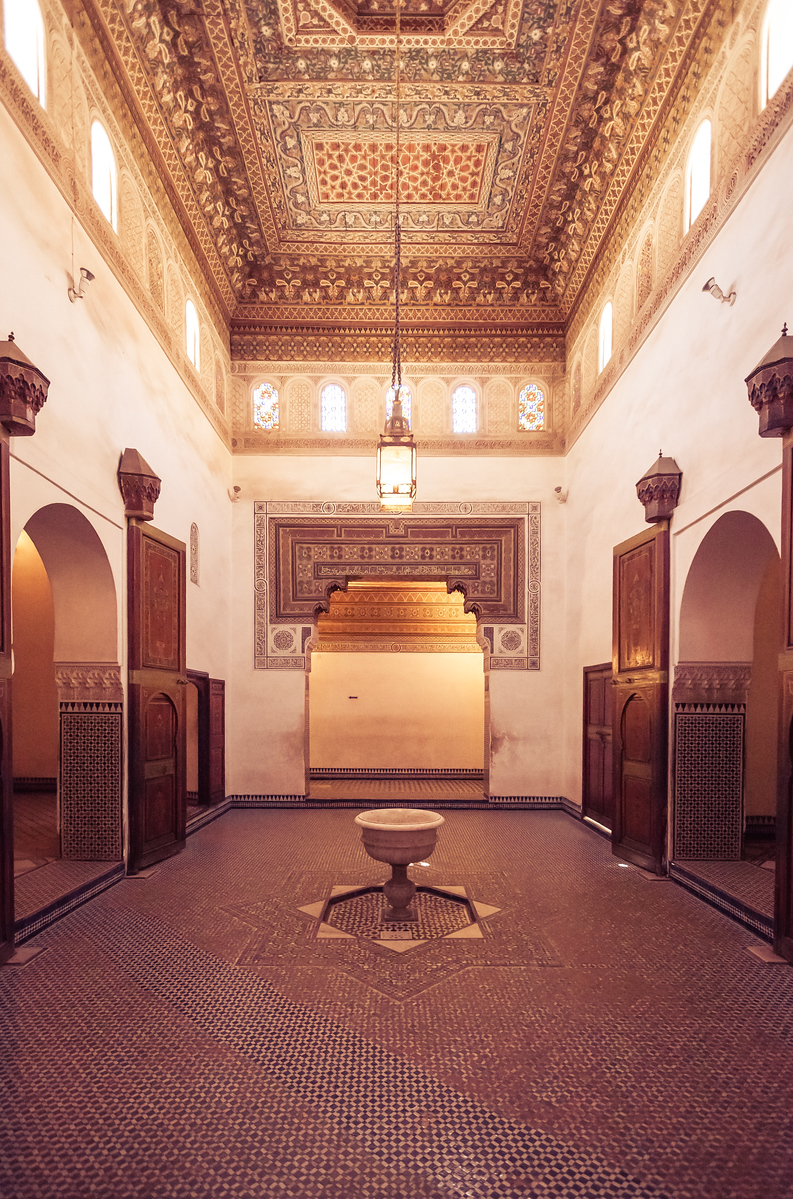 A Room at Bahia Palace in Marrakech