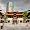 Jing'an Temple Courtyard Shanghai China