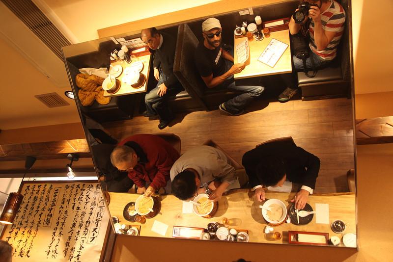 Ramen bar in Osaka, Japan, 2011