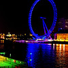 The London Eye, at night.