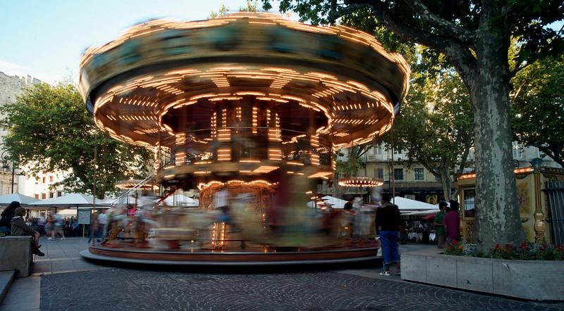 Carousel in Avignon town square