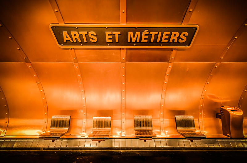 Arts et Metiers Paris Subway Station