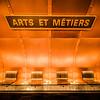 Arts et Metiers Paris Subway Station