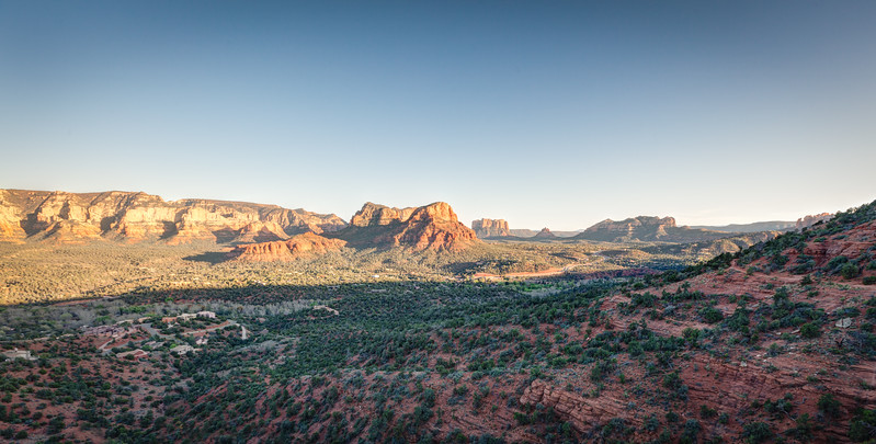 Sedona Airport Road at Sunset