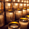 Lit Candles in Notre Dame Cathedrale Paris