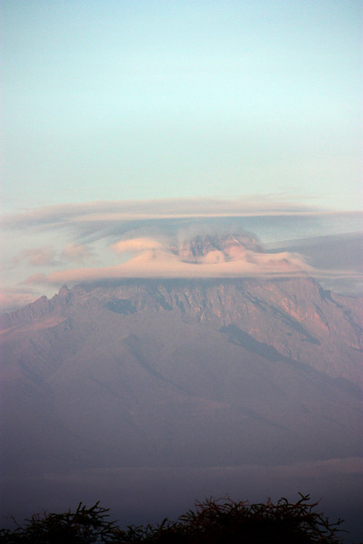 Mount Kilimanjaro, from Tsavo West, Kenya