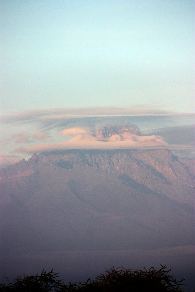 Mount Kilimanjaro, from Tsavo West, Kenya