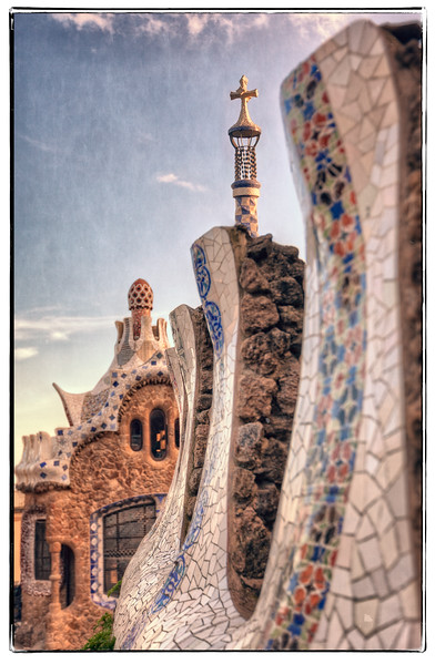 Park Guell at the Entrance