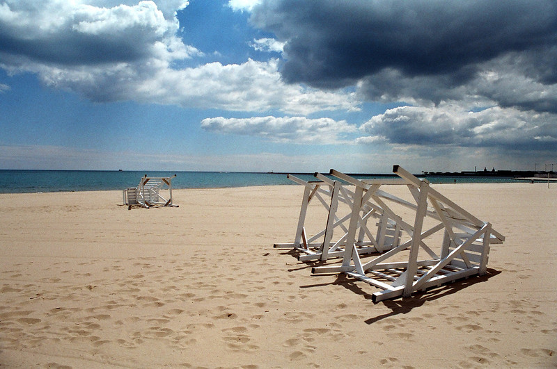 Chicago Beach in Colour