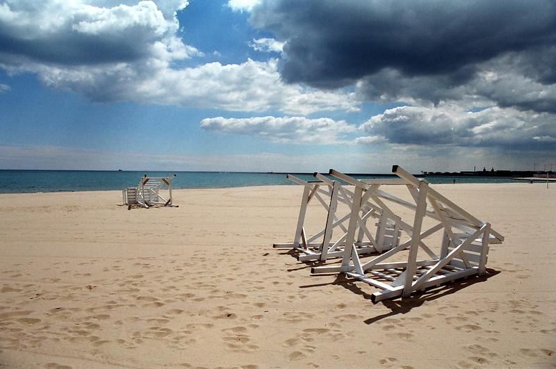 Chicago Beach in Colour