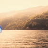 Sailboat on Lake Como, Italy