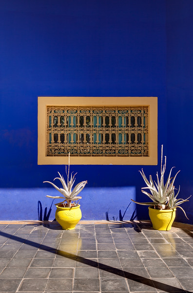 A Window of The Artist's Cottage at Jardin Marjorelle