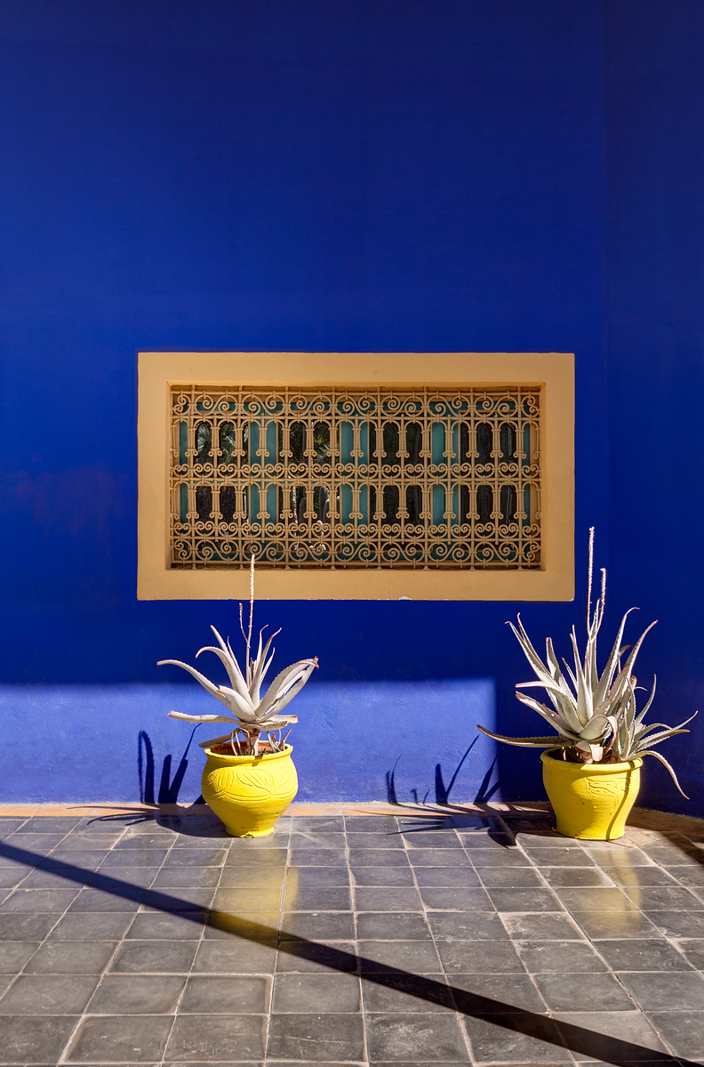 A Window of The Artist's Cottage at Jardin Majorelle