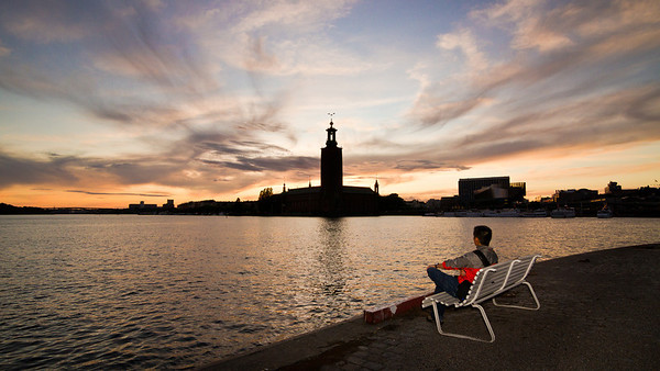 Not all of adventure is fast-paced and action-packed. Part of it is simply enjoying a quiet sunset in Stockholm, Sweden.